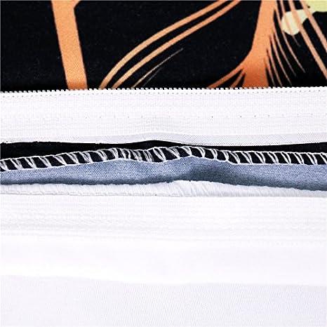Blanco Juego de Fundas N/órdicos de Cama 2 Personas Estilo Ex/ótico Multicolor Atrapasue/ños Funda de Edred/ón 220 x 240 cm Para Cama de 150 cm