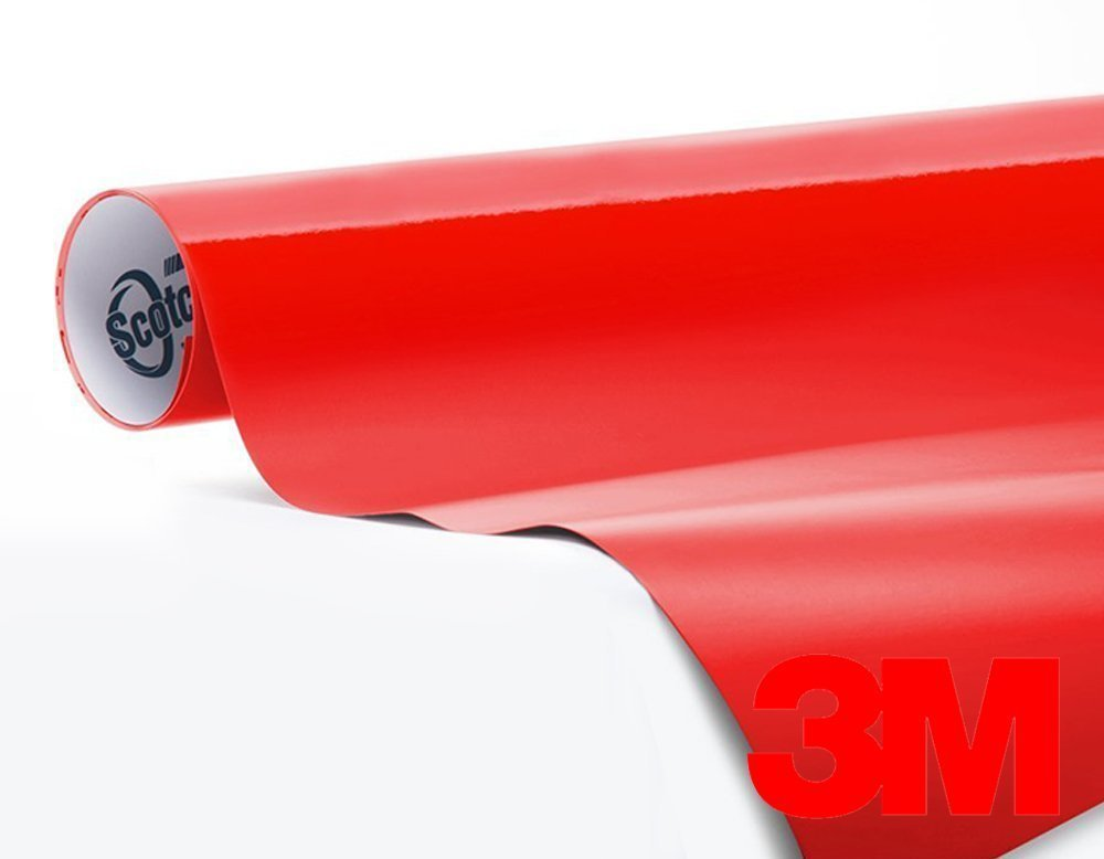 2ft x 5ft 3M 1080 Gloss Hot Rod Red Air-Release Vinyl Wrap Roll Including Toolkit VViViD 4350414324