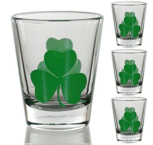 irish-shot-glasses-clear-with-green-shamrocks-set-of-4-st-patricks-day-gift