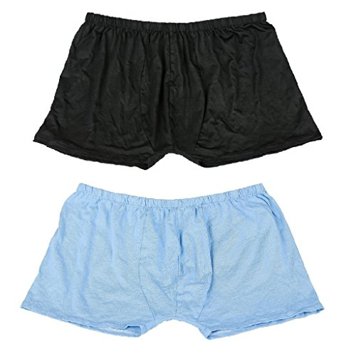 Zandina Mens Underwear Shorts Sexy Boxer Brief - 2 Pack-M