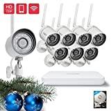 Funlux 8CH Smart Wireless Security Camera System 8 x 720p HD Outdoor Night Vision Surveillance Cameras 1TB Hard Drive