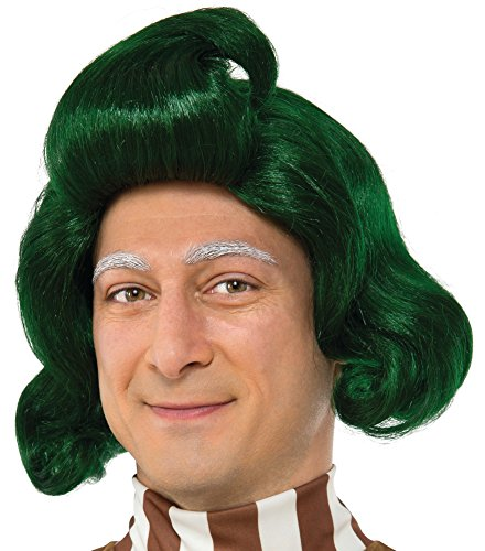 Rubie's Men's Willy Wonka and The Chocolate Factory Oompa Loompa Wig, As Shown, One Size -
