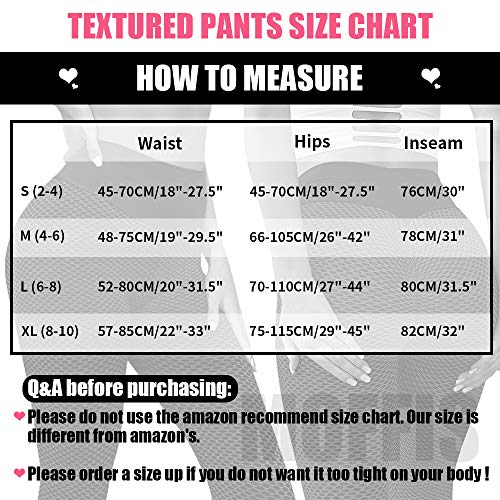 YASION Women's Ruched Butt Anti Cellulite Yoga Pants High Waisted Scrunch Butt Textured Booty Lifting Leggings