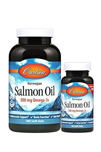 Carlson Norwegian Salmon Oil, 500 mg Omega-3s, Heart | Brain