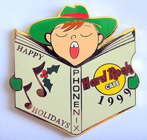 Christmas Caroler Boy w/Green Hat 1999 Error Pin Hard Rock Cafe Phoenix ()