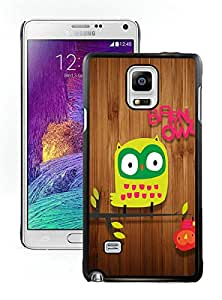 Samsung Note 4 Case,Cute Hanging Owl For Samsung Note 4 Black Case Cover