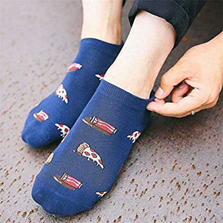 Amazon.com: KathShop Eggs Pizza Character Cute Meias Creative Novelty Print Ankle Socks Cartoon Men Korean Funny Calcetines Hombre: Kitchen & Dining