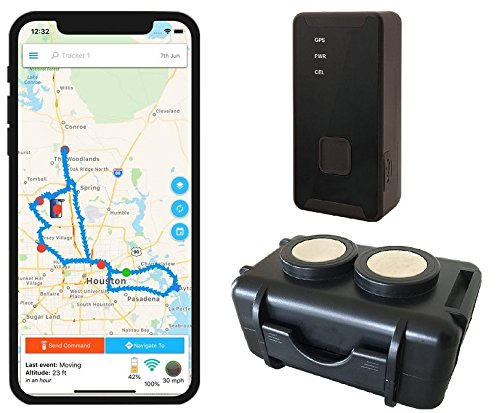 GPS Tracker - Optimus 2.0 Bundle with Twin Magnet Case (Gps Tracker Time Real)