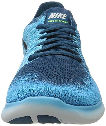 Nike Mens Free Rn Flyknit 2017 Scarpa Da Corsa Blu Laguna / Platino Puro