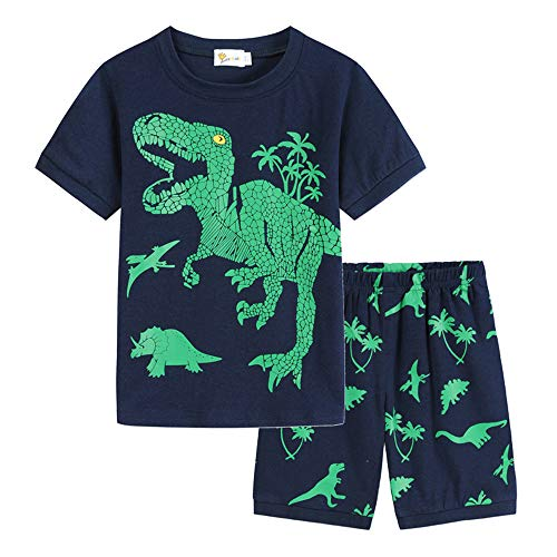 Little Boys Pajamas for Boys Pyjamas Kids Dinosaur Nightwear Sleepwear Short Sleeve Pjs Set Outfits Size 2-3 Years 3T