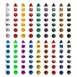 Yellow Mountain Imports 126 Polyhedral Dice Set (18 Colors) - Seven Varieties - Velvet Pouch for Storage - Pick You Perfect Set for DND, D&D, MTG, RPG - A Match for Most Table Games