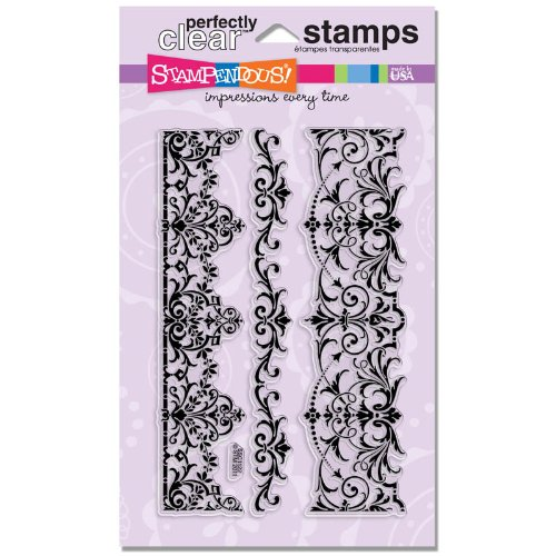 STAMPENDOUS Perfectly Clear Stamp Set, Elegant Borders Image