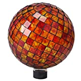 Very Cool Stuff GLMRYO102 VCS Tile Red Yellow Orange Mosaic Glass Globe, 10''