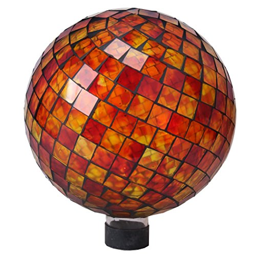 Very Cool Stuff GLMRYO102 VCS Tile Red Yellow Orange Mosaic Glass Globe, 10'' by Very Cool Stuff