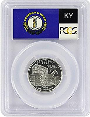 2001 Kentucky State S Silver Proof Quarter PR-69 PCGS