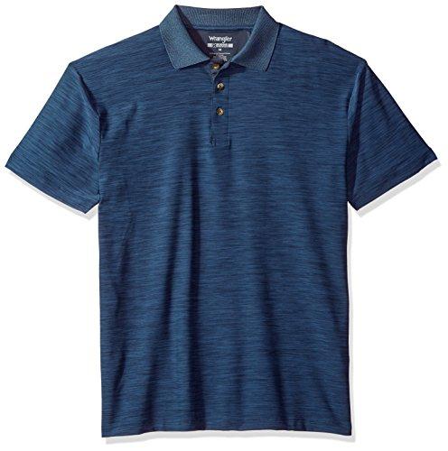 Wrangler Men's Riggs Workwear Advanced Comfort Polo Shirt Shirt, Navy Heather, S (Wrangler Shirt Polo)