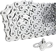 VG 12-Speed Bicycle Chain Set, 160cm - Carbon Steel - 126 Links - for Sram/Campagnolo/VG Sport - with 2X Chain