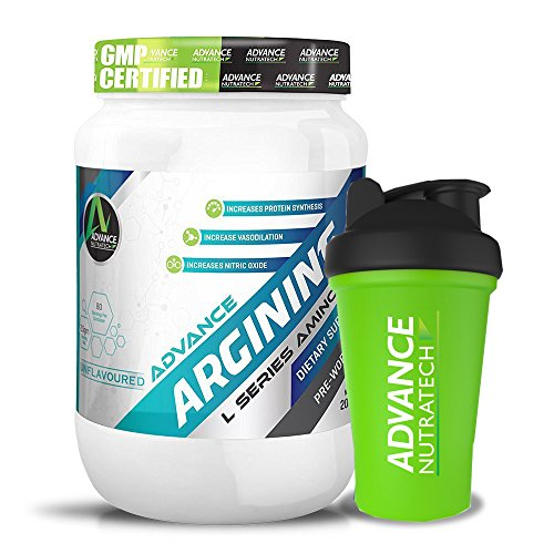Combo Arginine Aminos Pre-workout 200gm unflavoured Raw Powder With Shaker by ADVANCE NUTRATECH