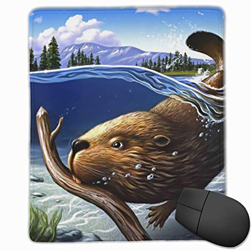 Yuotry Smooth Mouse Pad Busy Beaver Mobile Gaming Mousepad Work Mouse Pad Office Pad -