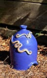 Anthony Stoneware Toad House, Royal Blue For Sale