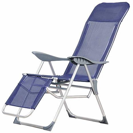 Papillon 8044212 8044212-Silla de Playa, 5 Posiciones con Respaldo, Azul, 56x18x100 cm