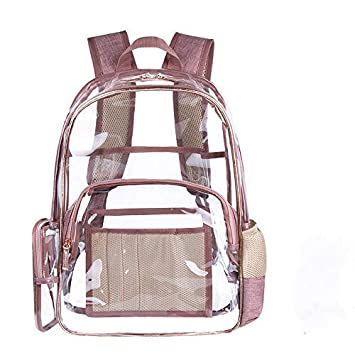 6940dea9e2d8 Amazon.com  BAOHT Clear Backpack with Cosmetic Bag   Case