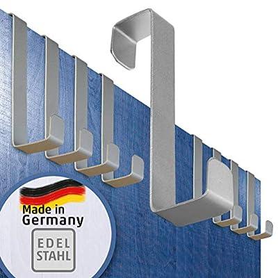 4smile Türhaken zum Einhängen – 10er Set, Edelstahl – Made in Germany Kleiderhaken für die Tür – weil Ordnung halten so…