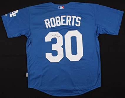 Dave Roberts Autographed Signed Dodgers Majestic MLB Jersey - JSA Certified 18dd7c2fbc8