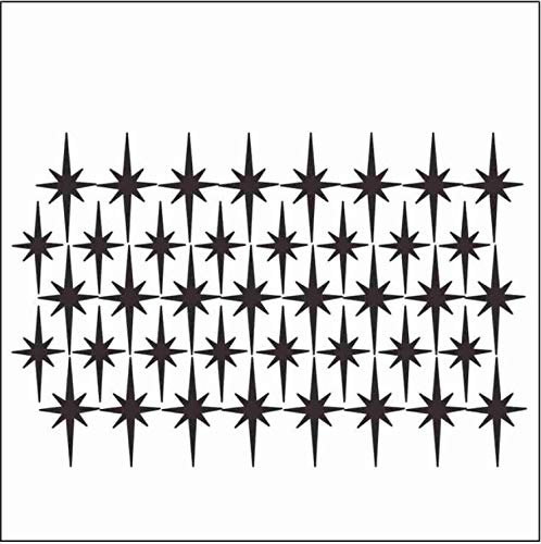 BEIKE Retro Starburst Wall Sticker Geometric Applique Atom Star Vinyl Detachable Art Modern Decor 4424Cm