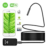 iBerry Endoscope - Inspection Camera - Endoscope Camera- Snake Camera iPhone 6 7 8 and Android iOS - Wireless Waterproof Home Automotive Vehicle Welding Digital LED WiFi Endoscope HD