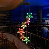 HOPESOOKY Wind Chime, Color-Changing Outdoor Waterproof Led Solar Powered Wind Chimes For Home/Party/Yard/Garden Decoration (Hummingbird)
