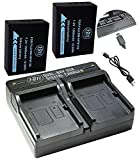 BM Premium 2 NP-W126S Batteries and Dual Battery Charger for Fuji X-A5, X-H1, X-A10, X100F, X-T10, X-T20, X-Pro1, X-Pro2, HS35EXR, HS50EXR, XA1, XA2, XA3, X-E1, X-E2, X-E2S, 1 X-M1, X-T1, X-T2 Camera