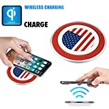 Qi Wireless Charger Pad for All Qi enabled Phone and Smartphone: iPhone 8, 8 Plus, iPhone X/LG V30, G6, Fast Charger (Premium)