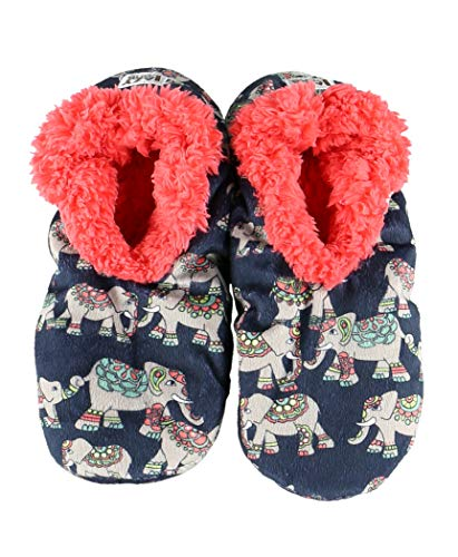 Slippers Dreams (Dream Big Elephant Womens Plush Fuzzy Feet Slippers by LazyOne   Ladies Soft Fuzzy House Slippers (S/M))