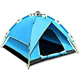 C/Y Camping Tent 2-3 Person Waterproof Outdoor Hiking Shelter in Blue Color