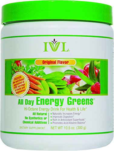 Ivl   All Day Energy Greens   High Octane Drink For Health   Life  Original  10 5 Oz Container