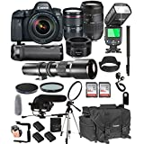 Canon EOS 6D Mark II With 24-105mm f/4 L IS II USM + 50mm 1.8 STM + Tamron 70-300mm + 500mm Telephoto + 128GB Memory + Pro Battery Bundle + TTL SpeedLight + Pro Filters,(26pc Bundle)