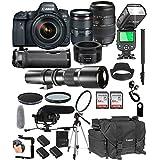Canon EOS 6D Mark II With 24-105mm f/4 L IS II USM + 50mm 1.8 STM + Tamron 70-300mm + 500mm Telephoto + 128GB Memory + Pro Battery Bundle + TTL SpeedLight + Pro Filters,(26pc Bunle)