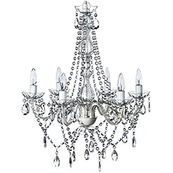The original gypsy color 6 light large crystal chandelier h26 w22 the original gypsy color 6 light large crystal chandelier h26 w22 white metal frame with aloadofball Image collections