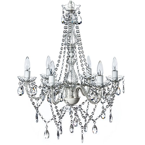 The Original Gypsy Color 6 Light Large Crystal Chandelier H26