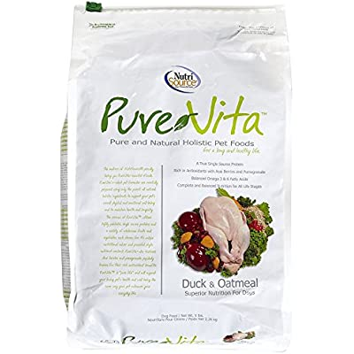 Pure Vita Dry Dog Food - Duck & Oatmeal - 5 Lbs