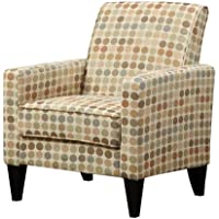 Handy Living Belmont Chair in Beige Retro Dot