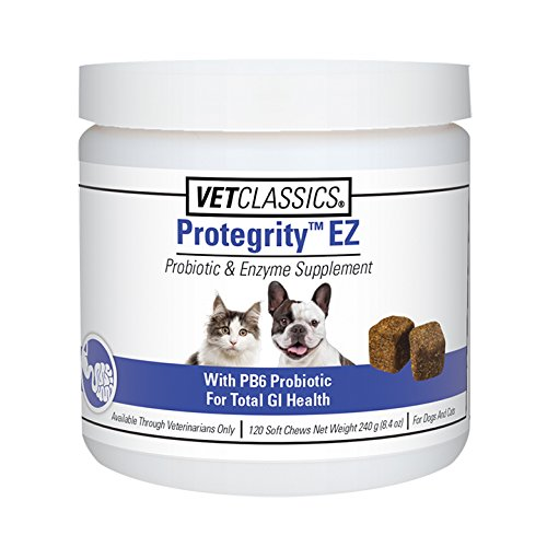Vet Classics Predegrity EZ Probiotic and Enzyme Supplement for Dogs and Cats, 120 Soft Chews