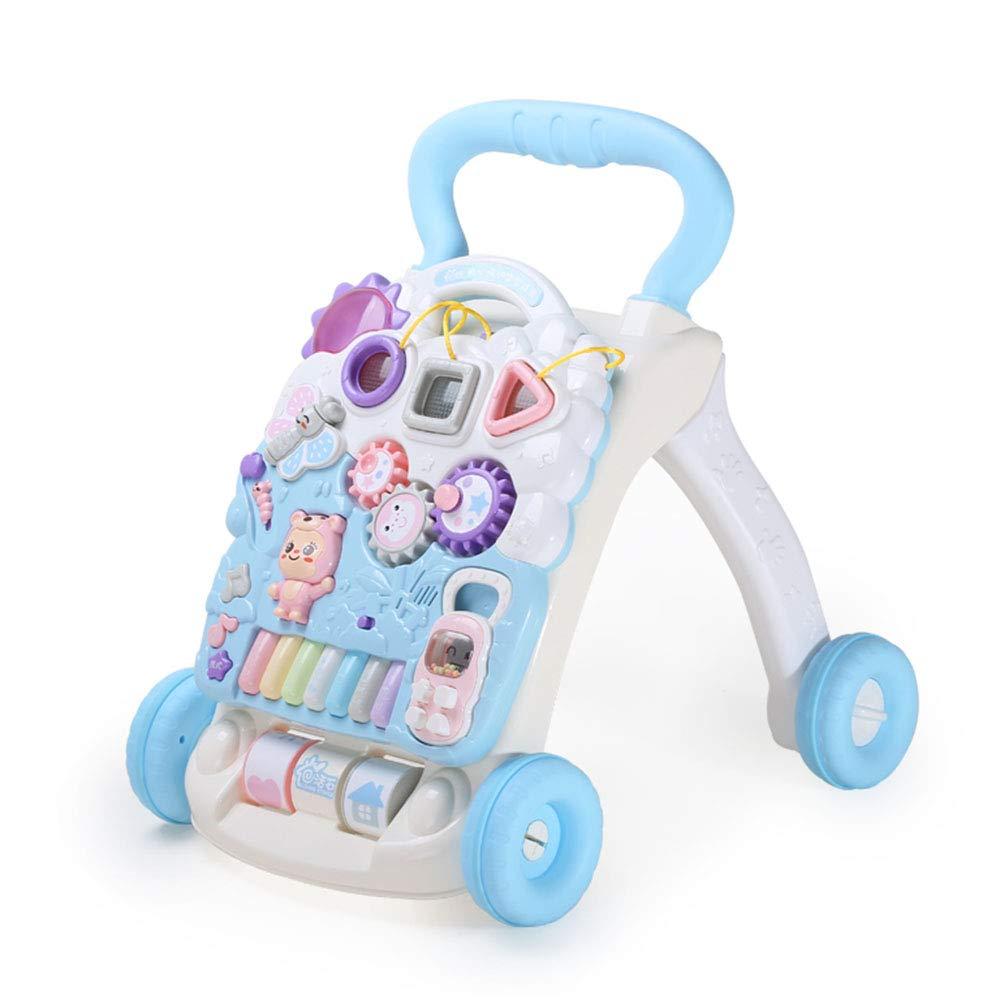 Xyanzi Juguetes para Bebés Centro de Actividades de Empujar y Tirar del Caminante para Sentarse Sentado para Estar de pie Juguetes de Desarrollo temprano de Altura Ajustable de 6 Meses a 3 años