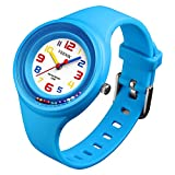Kids Sport Watch with 50M Waterproof, Quartz Wrist Watch for Girl Boy Watches - Light Blue