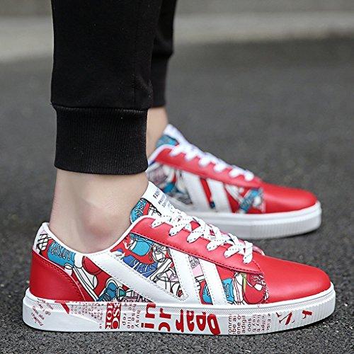 Homme pour Chaussures Trend Respirant 39 YaNanHome Wild Red de Tissu pour Chaussures Chiffon Chaussures Noir Coréen Homme Décontracté sur Style Chaussures Toile 8qP8fS