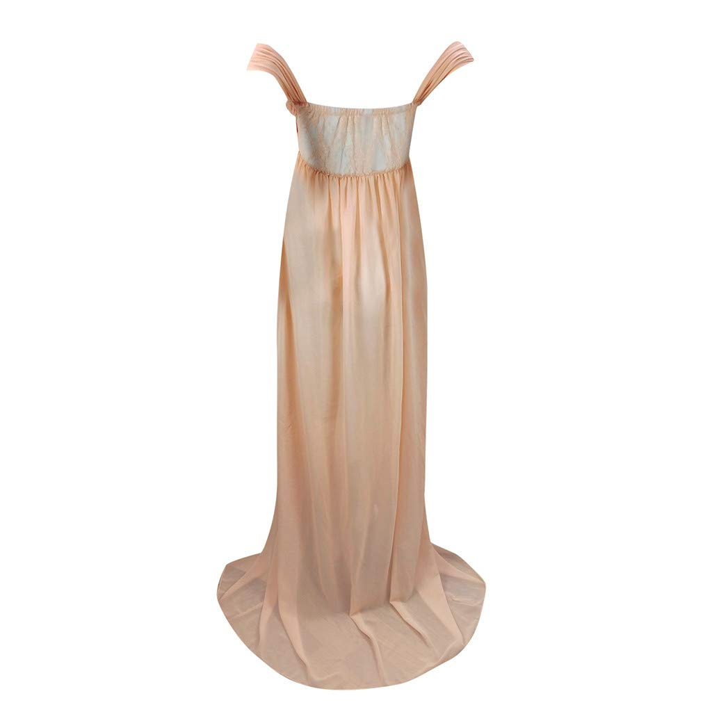 Harpily Maternity Wrap Dress Women Pregnant Dress Off Shoulder Ruffle Sleeve Maxi Trailing Long Dress for Photo Shoot Wedding Evening Party