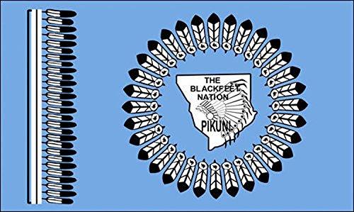 Blackfeet Nation Tribe Flag Sticker (decal Pikuni native)