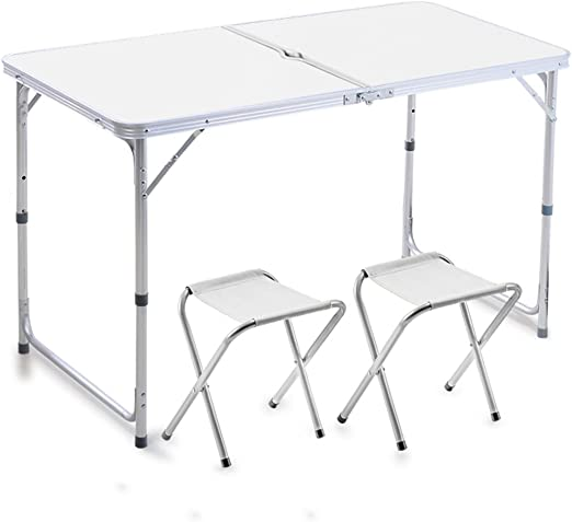 mesa plegable Peaceip Mesa y sillas Plegables al Aire Libre Tablas ...
