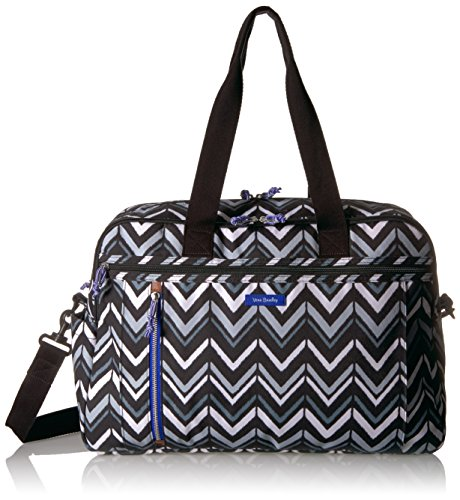 Vera Bradley Women's Lighten up Weekender Travel Bag, Lotus Chevron by Vera Bradley